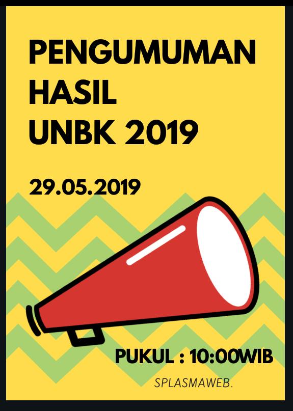 HASIL UNBK SPLASMA 2019